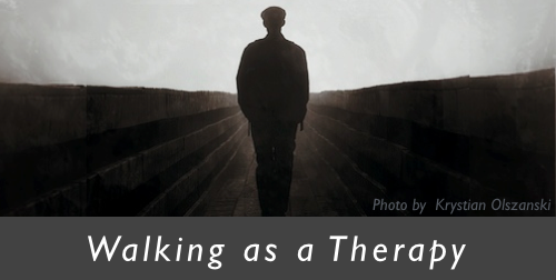 Walking as a therapy banner